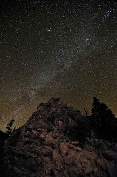 rocky mountain national park at night ..