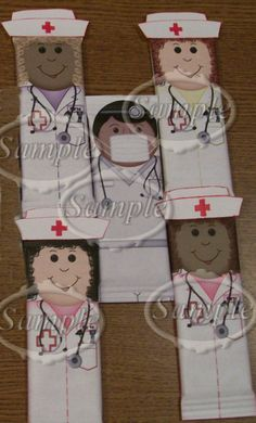 Personalized Dr and Nurses Candy Bar wrappers by SweetDee484, $25.00