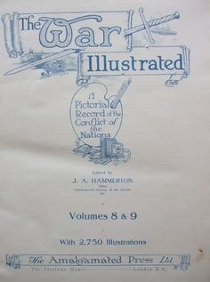 THE WAR ILLUSTRATED Volume Eight & Nine Title Page