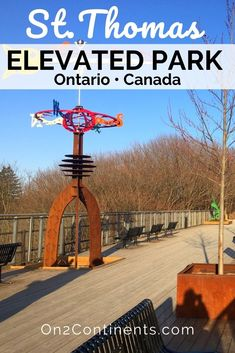 St. Thomas, ON has a new attraction - the Elevated Park. It was created on the abandoned Kettle Creek railway bridge giving a second life to the old bridge ruin, and offering locals and visitors a nice walking trail with panoramic views. #cityofstthomas #ontario #canada #elevatedpark #hiking #trails #stthomasontario #attraction #video #swontario #ldnont #ldngem #londonontario #familytravel #familytrip St Thomas, Second Life, Hiking Trails, Kettle, Family Travel, Ontario, Paths, Abandoned, Attraction