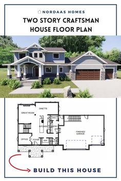 Beautiful craftsman house floor plan designed and built by Nordaas Homes, a full-service custom home builder in Minnesota. We have a variety of house plans--from single story, two story, small homes and more...all tried, tested