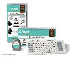 "Divine Wedding Cartridge ""$55""   New exclusive Cricut cartridge that is packed with images, phrases, and fonts!  #scrapbooking"
