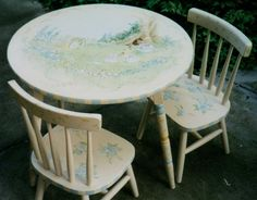 39 best hand painted children\'s table sets images on Pinterest ...