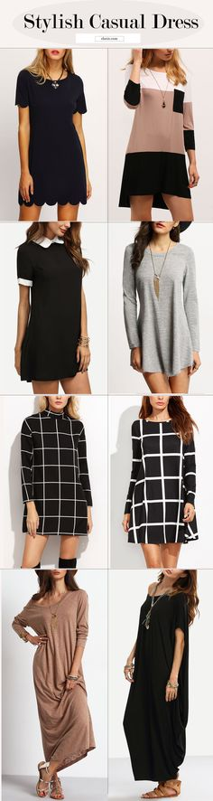 Simple casual dress for women work. Stylish hot sale dress at pinterest.