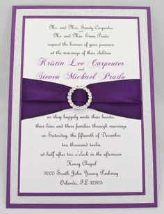 purple pink and silver glitter invitation samples for elena via etsy maybe do - Purple And Silver Wedding Invitations