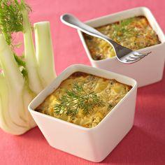 Découvrez la recette petits flans au fenouil sur cuisineactuelle.fr.