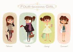Cute for all seasons girl print..