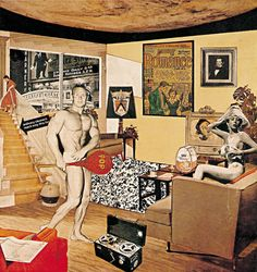 Just What Is It that Makes Today's Home So Different and So Appealing? - Collage by the 'Father of Pop Art' Richard Hamilton. The collage appeared at Whitechapel Art Gallery, London, in 1956 - The Pop Art aesthetic was born. Robert Rauschenberg, Roy Lichtenstein, Art Pop, Pop Art Collage, Jasper Johns, Arte Popular, Richard Hamilton Pop Art, Famous Pop Art, Bad Painting