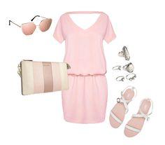 Shades of Pink / Pastel Palette Outfit  #manzara #fashion #pastels #pastelpalette #flatsandals #pinkminidress #michaelkors #hm