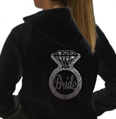 Bling Ring Bride Rhinestone Hoodie | Bachelorette Party Supplies
