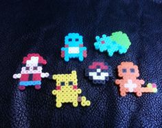 Handmade classic Pokémon  perler bead chibis / Lanyard