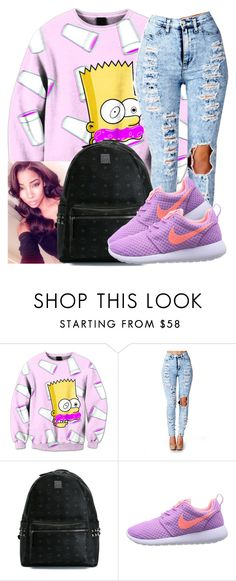 """""""Untitled #562"""" by chynaloggins ❤ liked on Polyvore featuring MCM and NIKE"""