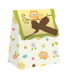 Owl Baby Shower Mini Favor Bags