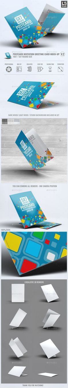 Postcard Invitation Greeting Card MockUp V.2 — Photoshop PSD #card #greeting card • Available here → https://graphicriver.net/item/postcard-invitation-greeting-card-mockup-v2/13398639?ref=pxcr