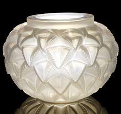 Lalique Opalescent Glass Vase