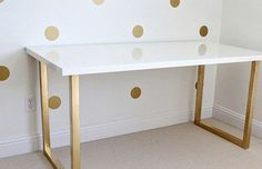 Combine a Linnmon table top with custom legs to create a desk of dreams.   15 Totally Ingenious IKEA Hacks