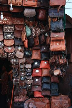 Marrakech Morocco is known for its leather goods