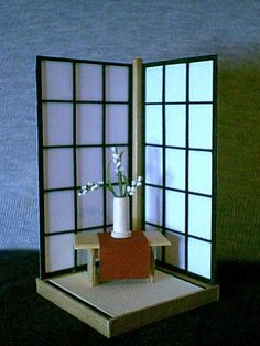 TATAMI ROOM: Miniature Japanese Shoji Screen Display