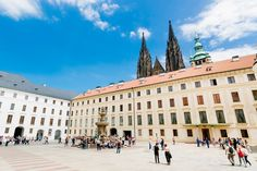 """Visit Prague the """"Golden City"""" on the Vltava river. Discover grand buildings, the city centre and the cultural flair of the beautiful city. Day Trips From Vienna, Prague Guide, Vienna State Opera, Visit Prague, Free Hotel, Bus Travel, National Museum, Day Tours, Walking Tour"""