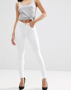 ASOS+Ridley+High+Waist+Skinny+Jeans+in+White