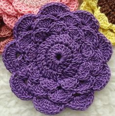 Layered Petal Crochet Flower Pattern by FunCrochetDesigns on Etsy