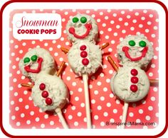 What special treats do you and your kids make during the holidays each year?  How about trying these Snowman Cookie Pops, using Oreo Cookies? Find out how at B-Inspired Mama.