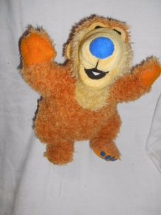 "Bear in the Big  Blue House - beanie soft toy Bear - 11"" H #MattelDisney"