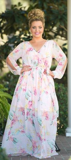 Plus size country style maxi dresses