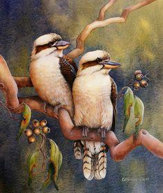 Home Amongst the Gum Trees (artwork by Katherine Castle) Beautiful Artwork, Beautiful Birds, Animals Beautiful, Watercolor Animals, Watercolor Paintings, Watercolours, Bird Paintings, Wildlife Paintings, Wildlife Art
