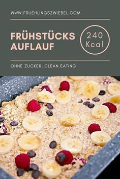 Baked Oatmeal basic recipe - Meal Prep for Baked Oatmeal Grundrezept – Meal Prep fürs Frühstück Ideal breakfast to prepare: Baked Oatmeal In my variant with banana and berries. The oatmeal casserole is easy to adjust and tastes great with other fruits - Basic Oatmeal Recipe, Oatmeal Recipes, Basic Recipe, Breakfast Desayunos, Breakfast Recipes, Breakfast Cooking, Breakfast Casserole, Baking Recipes, Snack Recipes