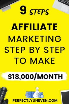 Affiliate Marketing Secret Step By Step - Perfectly Uneven - Affiliate Marketing Make Money Blogging, Make Money From Home, Money Saving Tips, Way To Make Money, Make Money Online, Money Fast, Money Hacks, Internet Marketing, Online Marketing