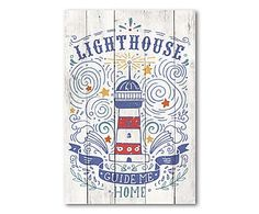 Wand-Schild Lighthouse, 40 x 60 cm