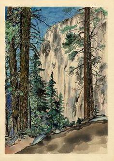 Chiura Obata, Eagle Peak - Japanese Block Print from Castle Fine Arts