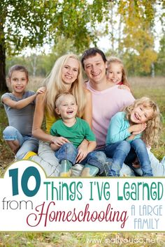 Although I am far from a veteran homeschooler, there are 10 Things I have learned from homeschooling a large family the past six years. :: www.inallyoudo.net