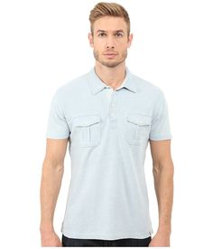 Keep a sharp look in a Lucky Brand polo. ; Laid-back polo shirt is crafted from a soft cotton with a washed finish. ; Fold-over collar. ; Short sleeves. ; Half-moon back yoke. ; Dual chest pockets with button-flap pockets. ; Straight hemline. ; 100% cotton. ; Machine wash cold, tumble dry low. ; Imported. Measurements: ; Length: 29 in ; Product measurements were taken using size MD. Please note that measurements may vary by size.