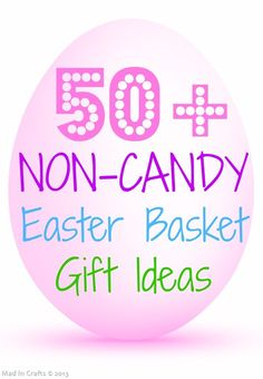 50+ NON-Candy Easter Basket Gift Ideas (with tutorials) - Mad in Crafts