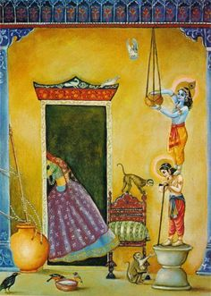 Lord Krishna - makhan chor!
