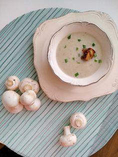 krémová polievka Soup, Eggs, Tasty, Plates, Fruit, Breakfast, Tableware, Fitness, Recipes