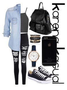 """KarenaKasual-Campus Time"" by nesyagata on Polyvore"