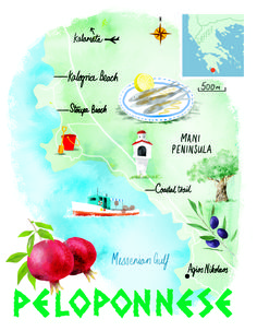 Peloponnese map by Scott Jessop August 2016 issue