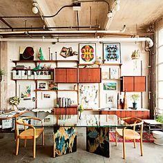 New York Design Hunting - Johanna Burke's South Williamsburg Loft -- New York Magazine Apartment Lease, Apartment Living, Interior Architecture, Interior Design, High Walls, Industrial Interiors, Home Furniture, Plywood Furniture, Modern Furniture