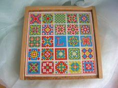 Holz-Würfel Mosaik-Spiel mit 64 Würfel
