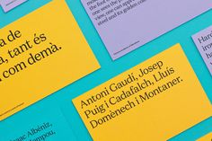 Palette | Urbanna This example of a vibrant and loud colour palette is from the brand identity work of Forma & Co for Anna Permanyer's Barcelona based tourist service company Urbanna... #colour #palette #inspiration #branding #illustration #graphic #design #portfolio #inspirational #logo #poster #ideas #layout #typography #brand #identity #formaandco #barcelona