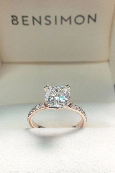 33 Unique Engagement Rings In Rose Gold Wedding Pinterest