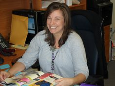 Manager and Head of Sales, Kerri, is always ready with a smile to walk you through the embroidery process.
