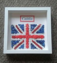 Union Jack button art