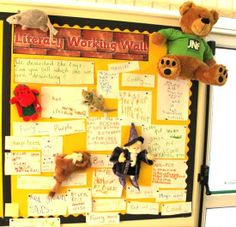 Not the picture - The article! The working wall should not be purely the domain of perfect, finished work but should also be used to share progress towards current goals. Literacy Display, Teaching Displays, Class Displays, Classroom Displays, Working Wall Display, Literacy Working Wall, Classroom Organisation, Classroom Supplies, Classroom Ideas