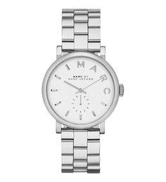 Montre pour femme : Marc by Marc Jacobs Baker White Dial Silver Bracelet Watch (MBM3242)  36mm  Th