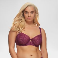 600baa76badda Paramour Women s Dahlia Geo Lace Unlined Bra - Purple 34D