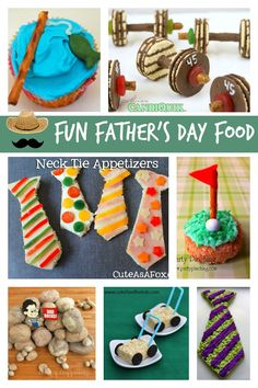 Fun Father's Day Food Fun Father& Day Food Ideas via Holly Homer Fathers Day Crafts, Happy Fathers Day, Holiday Treats, Holiday Fun, Holiday Recipes, Father's Day Activities, Children Activities, Father's Day Celebration, Daddy Day